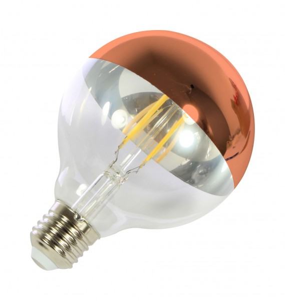 Synergy 21 LED Retrofit E27 G95 bulb 7W filament goldspiegel dim