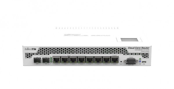 MikroTik Cloud Core Router CCCR1009-7G-1C-PC, 7x Gigabit, 1x Combo, passive Cooling