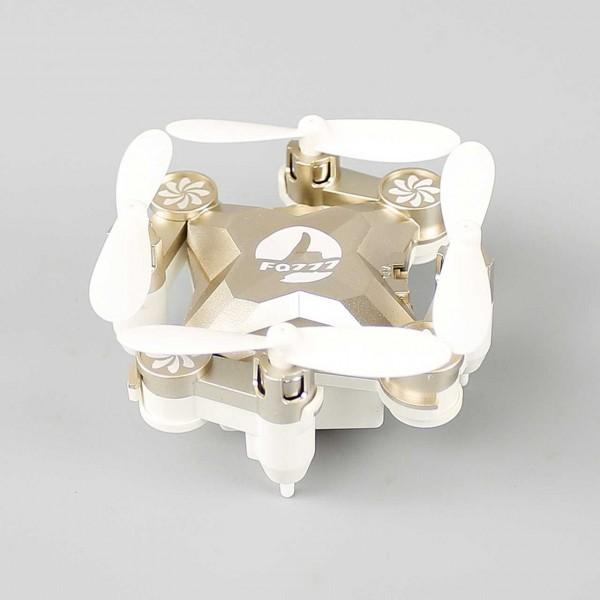 Drohne - Mini Drohne/Quadcopter mit Fernbedienung ohne Kamera (Farbe Gold)