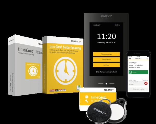 REINER SCT timeCard 6 Zeiterfassung Aktionsbundle 25 Benutzer