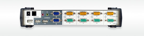 Aten KVM-Switch 4/2-fach Audio/VGA/USB, für Dual-Port VGA
